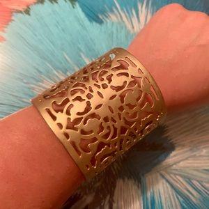 !3 for $25! Matte Gold Filigree Cuff Bracelet